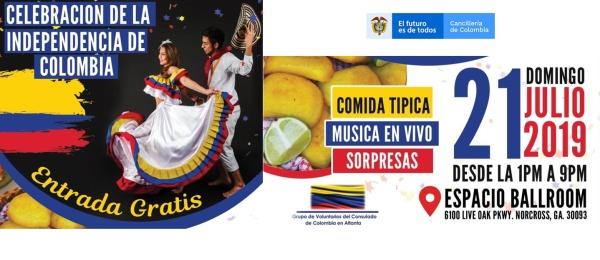 El Consulado de Colombia en Atlanta invita a conmemorar el Bicentenario de la Independencia Nacional, el domingo 21 de julio