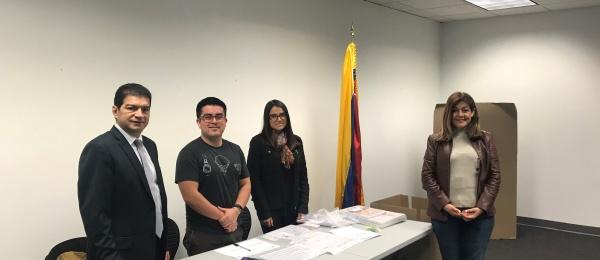 El Consulado de Colombia en Atlanta dio apertura oficial a elecciones en el exterior para Congreso de la República