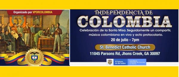 Consulado de Colombia en Atlanta conmemora el 211 aniversario de la independencia de Colombia el próximo martes 20 de julio de 2021