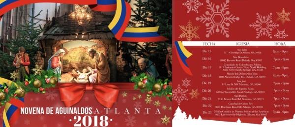 Consulado de Colombia en Atlanta invita a las novenas de aguinaldos que realizará del 15 y el 23 de diciembre de 2018